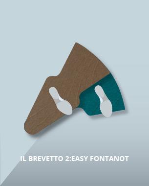 Frutto dell'attenta ricerca Fontanot per offrire prodotti in linea con i tempi, i gradini 2:Easy Fontanot  sono coperti da brevetto d'invenzione e rappresentano il presente ed il futuro delle scale a chiocciola.
