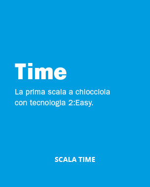 Time è la scala a chiocciola che risolve definitivamente il conflitto progettuale tra facilità d'uso della scala e risparmio di spazio. Le scale a chiocciola Time sono studiate per un pubblico giovane e dinamico.